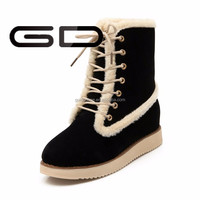 wholesale factory supply ankle lace up boots winner warm snow boots