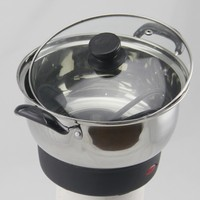 22cm stainless steel multifunction electric pot with two handles