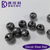 DECOK Steel Ball Factory 201 304 stainless steel ball with a threaded hole