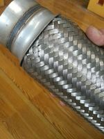 stainless steel car muffler exhaust, auto parts, high quality with interlock and welded