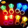 Promotional items china factory supply diamond shape led light finger ring party supplies flashing led light plastic finger ring