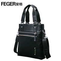 FEGER charming jewelry blue genuine leather hand bag manufacturer
