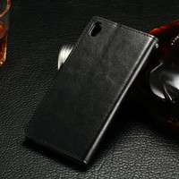 Luxury Deluxe Stand Leather Case Card Wallet Flip Cover Skin For Sony Xperia Z3