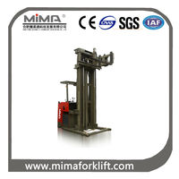 MIMA 2200lbs load articulated forklift truck/VNA forklifts 3-way high-lift pallet truck-electric