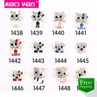 Free shipping hello kitty charms nail ast decoration 3d metal #1118