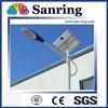 Hot dip galvanized lamp pole led lighting system solar power light