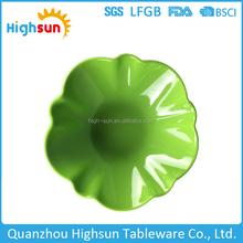 Hotel and restaurant use unique shape design solid color melamine plastic dish plate