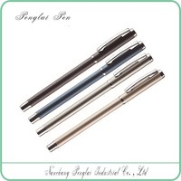 2015 High quality metal gel ball pen with metal clip wholesale