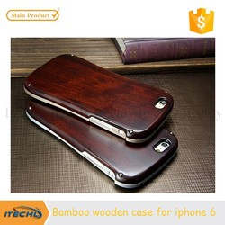 bamboo wooden mobile cover for iphone 6, wood case for iphone 6 plus