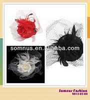 Somnus Fashion Ladies' Feather Hair Fascinator with Chicken Feather