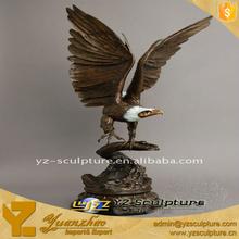 Indoor Cast Bronze America Eagle Statue Sculpture