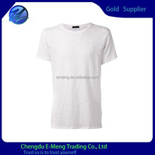 2015 High Quality New Blank White Brand T-shirt in China