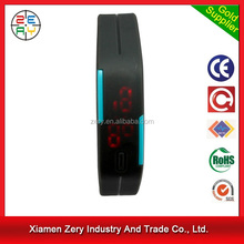 R0775 promotional led watch plastic watch silicon straps