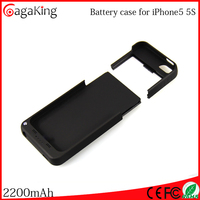 External backup battery charger case for iphone 5 ABS+PC power bank 2200mah For iphone 5s cover Charging phone case