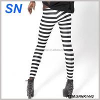 New arrival custom print leggings strip print leggings sexy woman tights