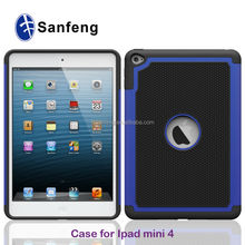 Best selling manufacture price football pattern ballistic smart covers cases For Mini iPad 4