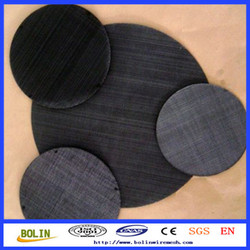 Low Carbon Steel Filter Disc Wire Mesh for Plastic Extruder