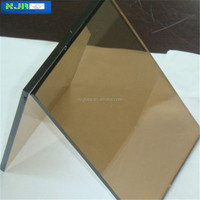 6mm competitive price toughened coated glass