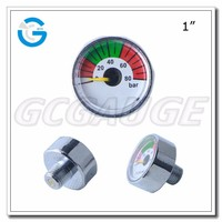 High quality chrome plated 25mm 500 600 PSI compressed air or nitrogen micro pressure gauges