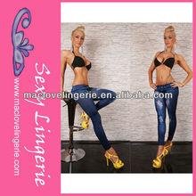 ml7513 2014 de mujer de moda caliente jeggings niñas azul sexy leggings culo