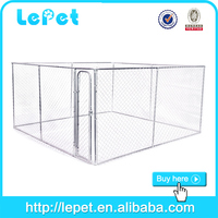 2015 hot selling galvanized metal large outdoor dog kennel wholesale