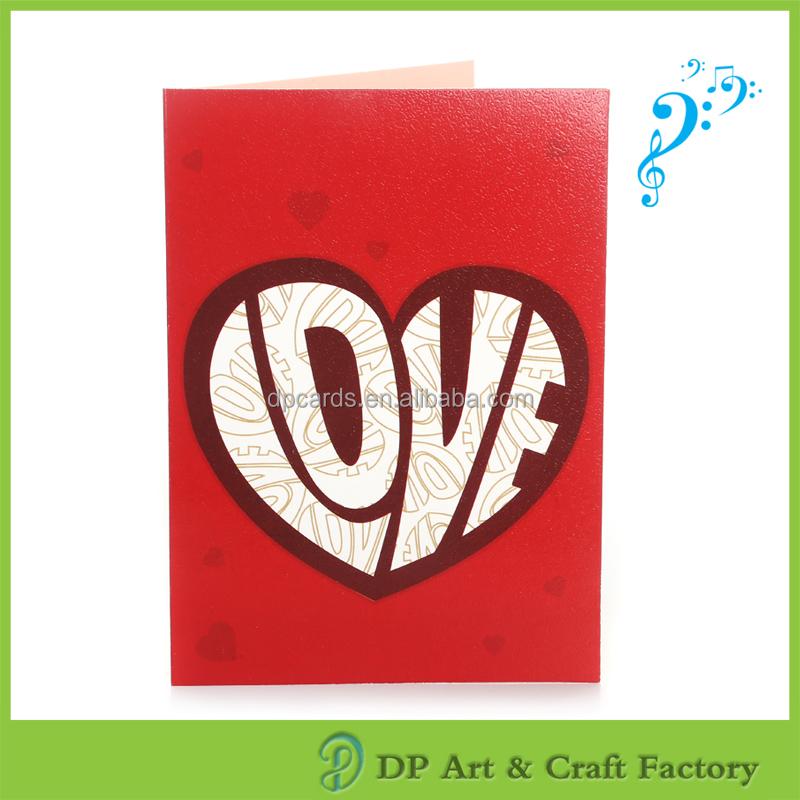 Venta caliente 123 tarjeta de felicitación musical de la tarjeta precio barato