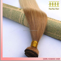 new arrival two toned straight ombre colored malaysian brazilian hondy blonde hair weave