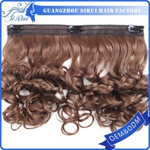 Gorgeous and attractive elegant relaxed noble synthetic hair extension
