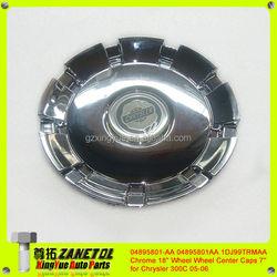 "04895801-AA 04895801AA 1DJ99TRMAA Chrome 18"" Wheel / Rim Wheel Center Caps 7''for Chrysler 300C 05-06"