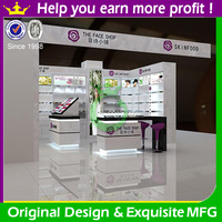 Funroad fashionable wooden cosmetic shop design for cosmetic store