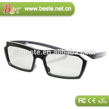 pasiva 3d de plástico gafas polarizadas 3d gafas de películas