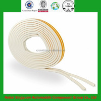 best selling extruded fireproof D type wooden door and window adhesive rubber seal strip