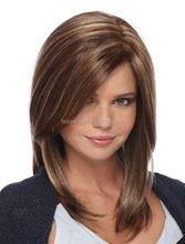 Fashion white women synthetic wig heat resistant lace front