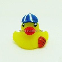 Bath Cute Baby Toy Yellow Rubber Duck with basketball