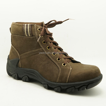 Beautiful and durable high quality men's leather ankle boots for climbing