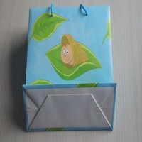 Cheapest bags!Environmental folding paper bags for goods when go for shopping