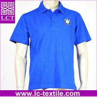 wholesale custom fit premium quality embroidery 100 pique cotton royal blue personal work uniform polo shirt for BMW(LCTT0273)