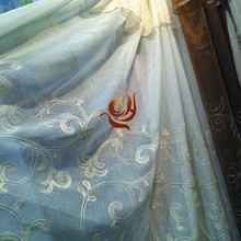 popular embroidered fabric new design ready made sheer european style living room curtains