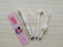 Student creative ballpoint pen human bones ballpen 0.5mm plastic ballpoint pen kids gift