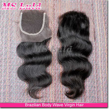 "lace closure 4""x4"" virgin russian remy hair 8"" -24"", stocks available silk base closure brazilian hair"