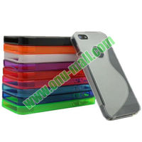 Simple Style Shockproof S Design TPU Case Cover for iPhone 5