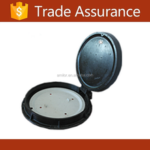 Composite rubber manhole cover with rubber gasket