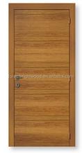 Natural veneered MDF board interior bedroom door with simple style
