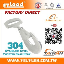 """[EZ LOAD] 2"""" Snap Hook with Stainless Steel Swivel Lobster Clasps"""