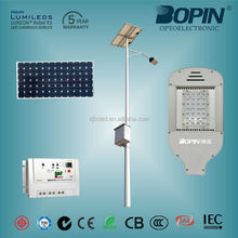 Solar LED street light black or silvery integration