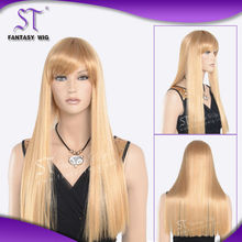 Hot-selling and reasonable price full head wigs ,straight wigs with bangs