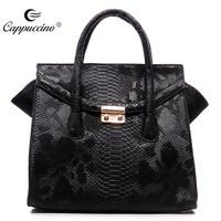 2016 Factory Python Top Flap Fashion Bags Ladies Handbags