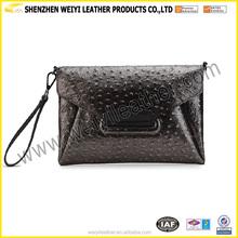 China Wholesale Ladies Leather Envelope Clutch Bag