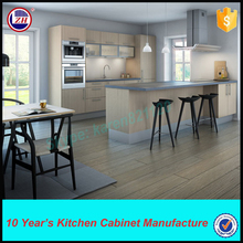 PVC laminate kitchen cabinets with glass door