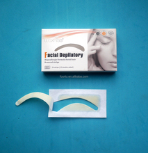 Made in China epilatory wax strip for eyebrows